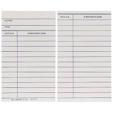 Library Checkout Template Book Cards Medium Weight 100 Pkg