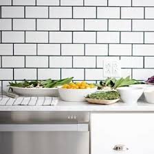 white subway tiles with black grout. Interesting With 11 Backsplashes For A Unique Kitchen Like Black Tie The Kitchen White  Subway Tile With Grout Never Goes Out Of Style To White Subway Tiles With Black Grout O