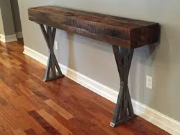 reclaimed wood and metal furniture. Orlando Custom Wood Foyer Table Reclaimed And Metal Furniture