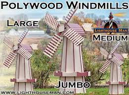 polywood decorative lawn windmills