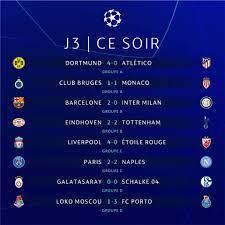 نتائج مباريات اليوم من دوري ابطال اوروبا - جدول مباريات اليوم