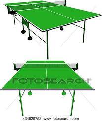 ping pong table clip art. Fine Ping Clipart  Ping Pong Table Verte Tennis Vecteur Illustration For Ping Pong Table Clip Art A