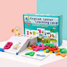 Đồ Chơi Xếp Hình Hộp Thẻ Lắp Ghép Chữ Cái Tiếng Anh Bằng Gỗ- English Letter  Learning Card Cho Bé Từ 2-4 Tuổi Cho Bé