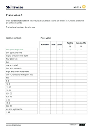 exponential worksheet decimal notation worksheets kindergarten writing decimals in word form worksheet free library standard and