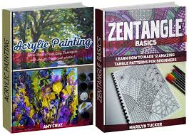 acrylic painting and zentangle box set learn how to paint easy techniques with acrylic paint and how to make 12 amazing tangle patterns acrylic