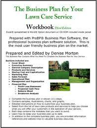 the business plan for your lawn care
