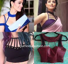 Statement Blouse Designs Make A Style Statement With Choker Style Saree Blouse Designs