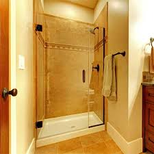 inline frameless glass shower door