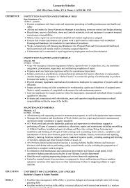 Download Maintenance Foreman Resume Sample as Image file