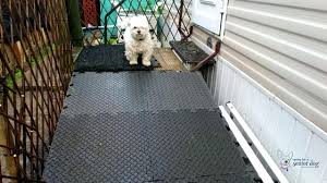 how to build your own dog ramp for deck design