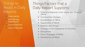 Preparing Daily Construction Reports