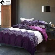 unique light purple bedding set 4pcs cotton duvet cover set bed quilt queen size bedspread pillowcase bedclothes bed sheet set unusual duvet covers uk