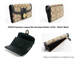 COACH SIGNATURE LEGACY SLIM ENVELOPE WALLET  41955 – KHAKI  BLACK ...