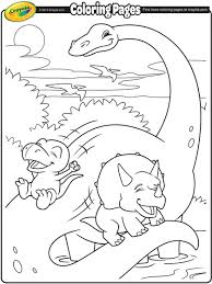 Crayola coloring pages archives within crayola coloring pages. Brachiosaurus And Dinosaur Friends Coloring Page Crayola Com