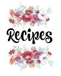 Recipe Binder Templates Diy Recipe Book Template
