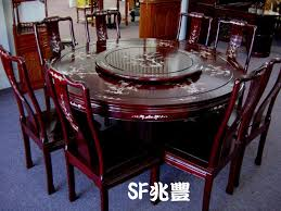 rosewood round table set with mother of pearl inlaid design birds flowers or dragon