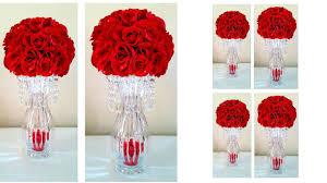 diy light bling crystal rose chandelier centerpiece