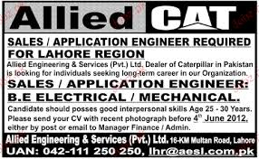 Sales / Application Engineer Job Opportunity 2018 Jobs Pakistan