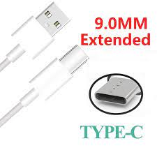 9mm uzun genişletilmiş bağlayıcı kafa USB C kablo şarj kablosu adaptörü  Blackview Oukitel Umidigi Doogee USB C kablosu|Mobile Phone Cables