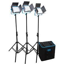 dracast led500 s series bi color led 3 light kit with v