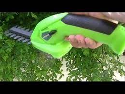 7 2v li ion cordless hedge trimmer