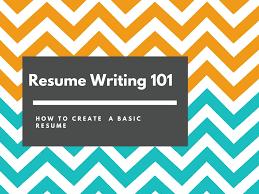 Introduction To Resume Writing Resumes 101 Thiru Matthew