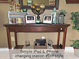 create a simple diy iphone and ipad charging station to match your decor