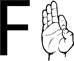sign language letter f asl sign language letter f coloring page free printable coloring pages