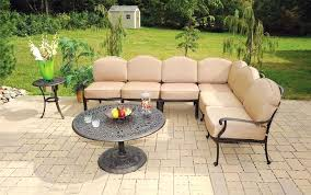 outdoor round coffee table heritage outdoor living cast aluminum sectional with round coffee table antique bronze