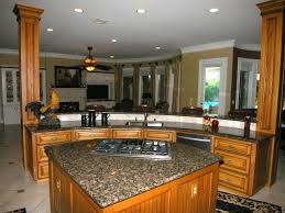 Decorate Kitchen Countertops Great L Shape Small Kitchen Decoration Using Dark Brown Granite