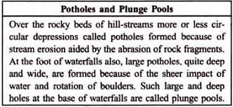 essay on landforms top essays geomorphology branches geology potholes and plunge pools