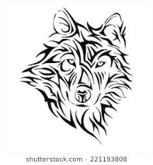 tribal wolf with wings drawing. Beautiful Wings Wolf Head Tattoo Tribe Vector Throughout Tribal With Wings Drawing M