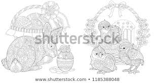 Easter Coloring Pages Coloring Book Adults Stock Vector Royalty