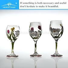 colored stem wine glasses asda coloured crystal glass