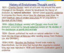 history of evolutionary thought ppt video online  history of evolutionary thought cont d