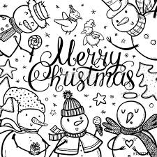 Christmas Card Design With Holidays Funny Snowman Candy Snowflakes
