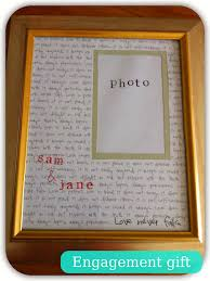 easy diy engagement or wedding gift personalised photo frame