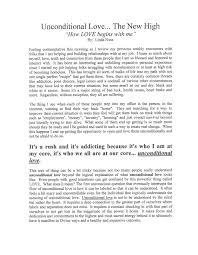 Unconditional Love Essay Example Essay Example