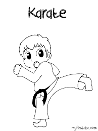 Small Picture Karate Coloring Page My First ABC