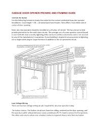 amadorgaragedoors garage door framing guide garage door operator prewire and framing guide