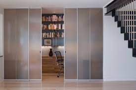 neutral home office ideas. Closet Office Ideas Home Modern With Sliding Doors Small Space Translucent Neutral