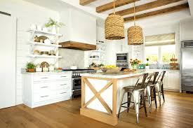 beachy kitchens ideas coastal wood and woven wicker details in beach house kitchen beachy kitchen decorating