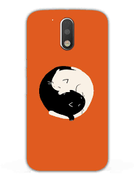 moto 4x case. cat peace ying yang - designer mobile phone case cover for moto g4 plus 4x k