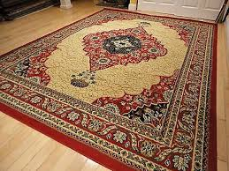 large red area rug 8x10 persian rug 5x8 carpet 8x11 cream traditional rugs 5x7