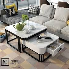 jemro twin marble coffee table cst25