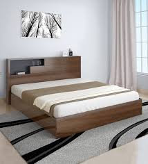 borden queen size bed in brown colour