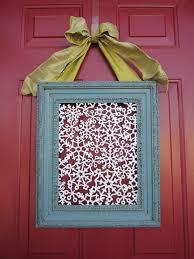 front door wreathFront Door Frame switch up  Blue Cricket Design
