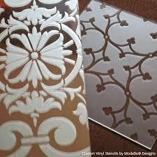 etched glass with stencils