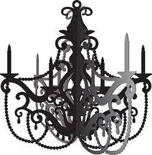 paris party hanging chandelier decoration