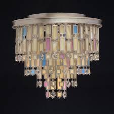 7 bulb ceiling light in satin gold